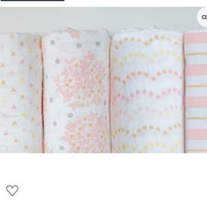 Cotton Muslin Swaddle Blankets, Set of 4